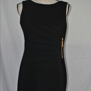 Ivanka Trump Black Sunburst Knit Sheath Dress 10